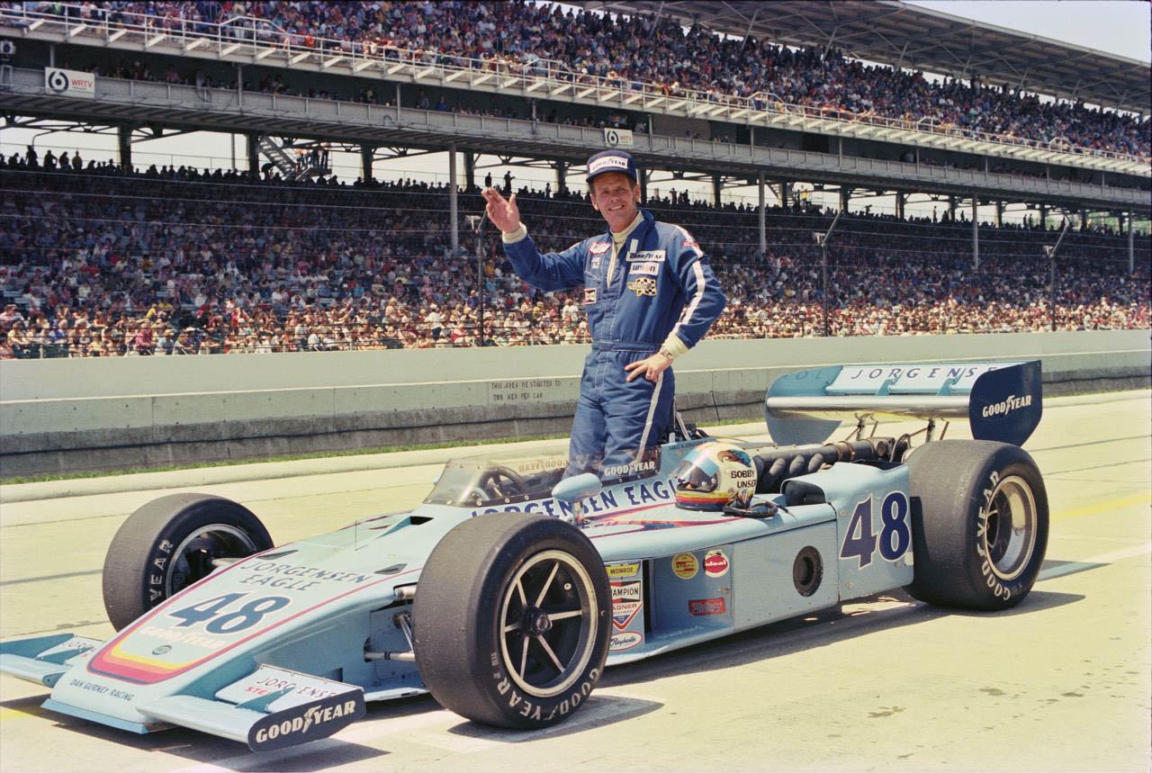 Bobby Unser em 1975, ano do bi na Indy 500